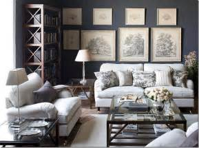 Dark Grey Living Room Walls Gray Toile Living Room Interiorly