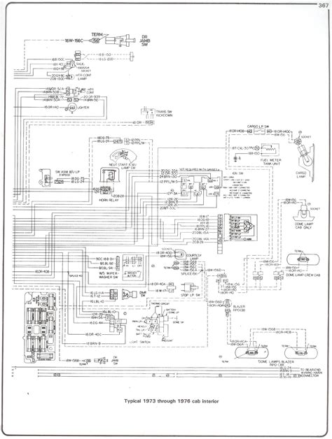 73 76 cab inter to 1973 chevy truck wiring diagram