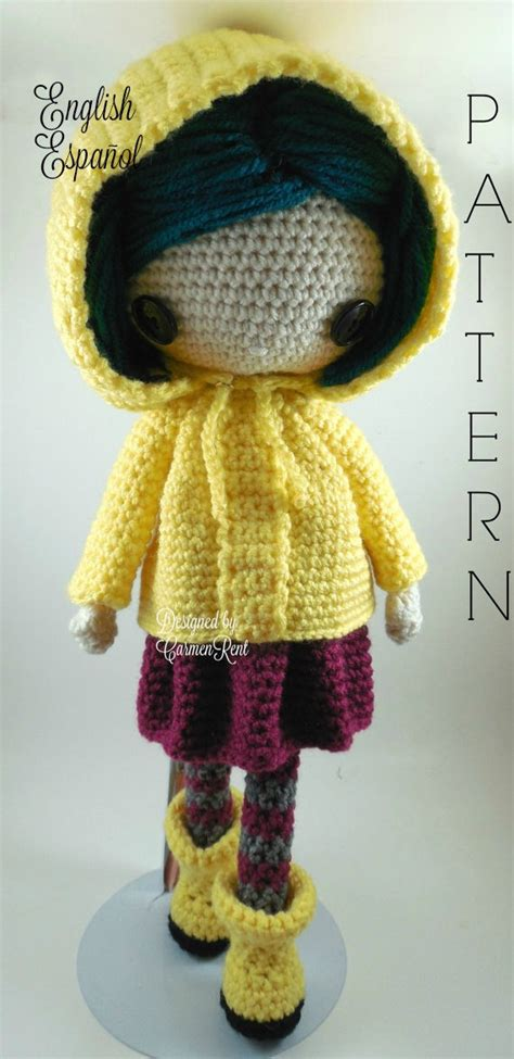 jones design doll coraline amigurumi doll crochet pattern pdf