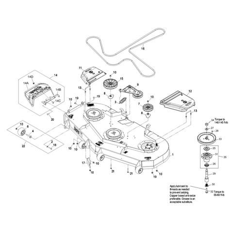 exmark lazer z parts diagram exmark 72 quot lazer z deck parts 09 10