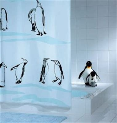 penguin shower curtains penguin shower curtain notjusttaps co uk