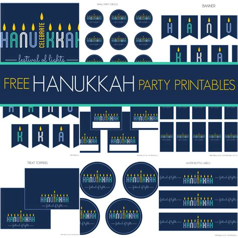 printable hanukkah decorations free hanukkah party printables from printabelle catch my