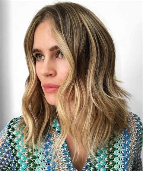 long lob 2 layers 60 super chic hairstyles for long faces to break up the length