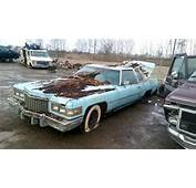 Very Rough 1976 Cadillac Coupe Deville In The Junk Yard