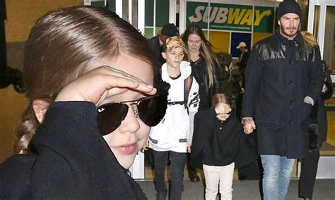 Its Beckham Tuesday Time by Beckham Arrives In Nyc With David To Support