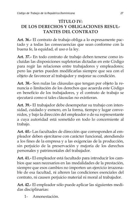 Carta De Trabajo Individual Codigo Trabajo Republica Dominicana