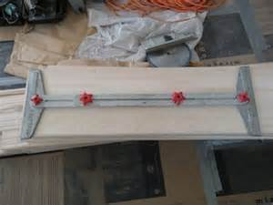 stair tread template tool staircase installation how to install wall to wall