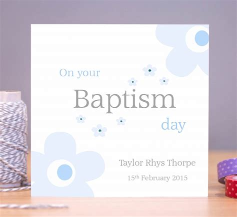 Handmade Christening Cards From Grandparents - personalised baptism card blue blossom just for cards