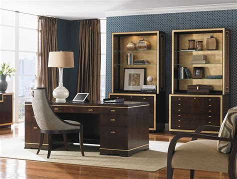 Bel Aire Paramount Executive Desk With Gold Accents Sligh Office Furniture