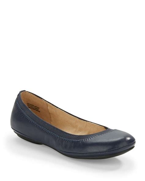 bandolino shoes flats bandolino edition ballet flats in blue navy blue lyst