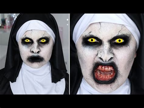 tutorial makeup valak the conjuring 2 valak nun sfx halloween makeup tutorial