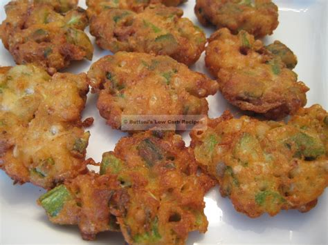 Okra fritters buttoni s low carb recipes
