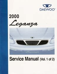 free online auto service manuals 1999 daewoo leganza parental controls 2000 daewoo leganza factory service manual 2 volume set