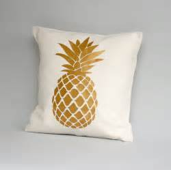 metallic gold pillow cover gold pineapple pillow cover by