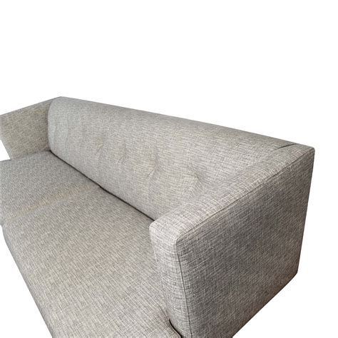 62 Off Cb2 Cb2 Avec Gray Tufted Sofa Sofas Tufted Gray Sofa