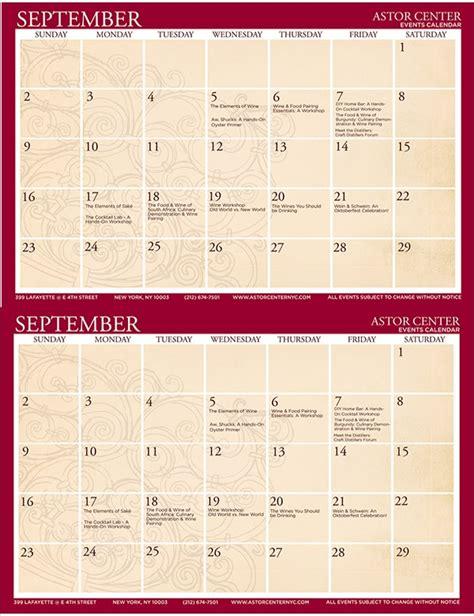 Calendar Flyer Template