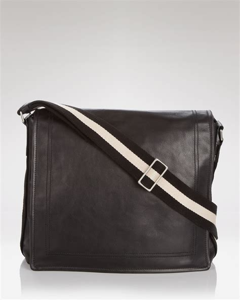 Office Bag Bally 8632 3 bally messenger bag in black for lyst