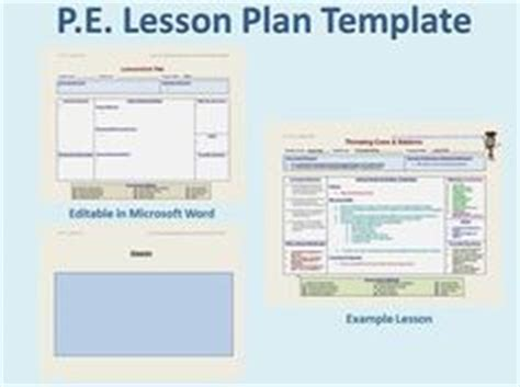 lesson plan template physical education 1000 images about phys ed on physical