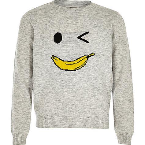 Jumper Banana grey knit banana jumper cardigans jumpers