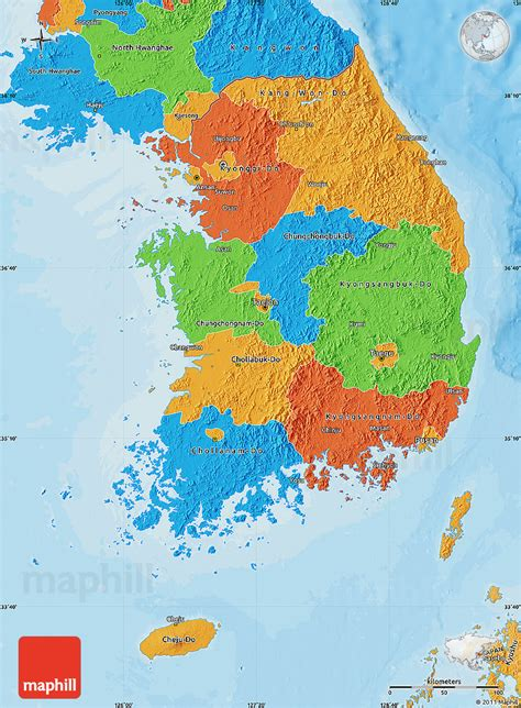 map of korea political map of south korea