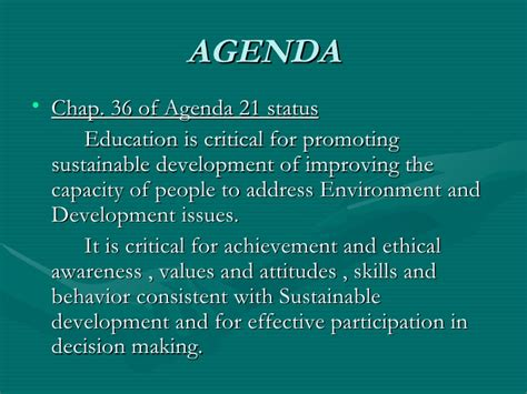 themes of education for sustainable development education for sustainable development