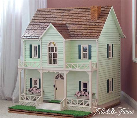 Handmade Dollhouse - junk chic cottage saturday spotlight the