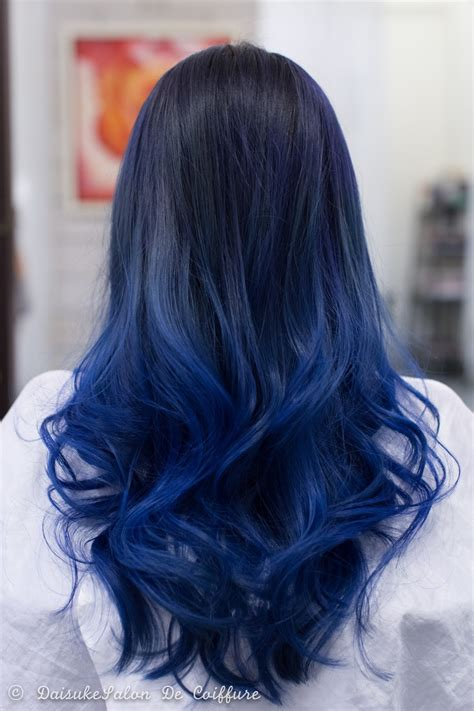 Blue Hairstyles by Welcome Balayage Hair Manicure Blue