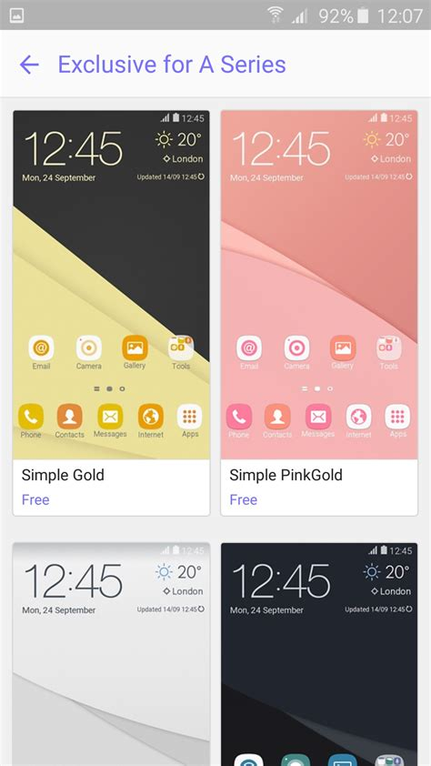 themes samsung a7 2017 samsung releases exclusive themes for the galaxy a 2016