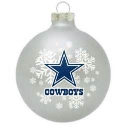 dallas cowboys small painted round christmas tree ornament