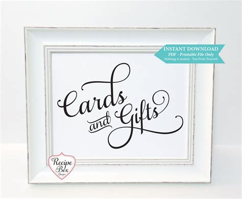 cards and gifts sign template cards gifts template printable wedding sign instant
