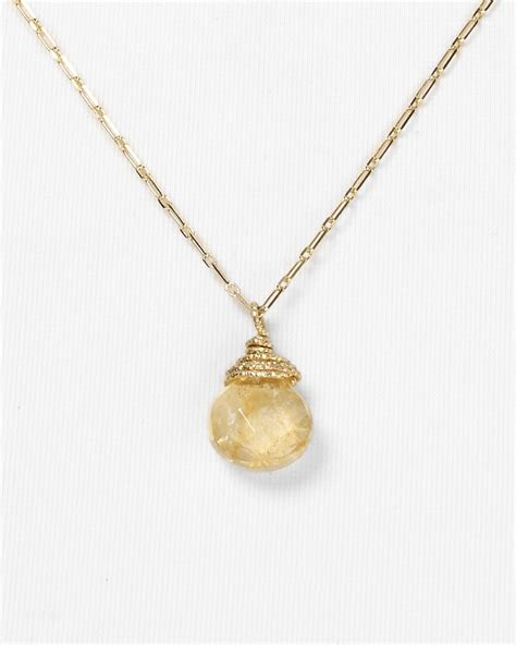 dogeared healing gem briolette necklace with citrine