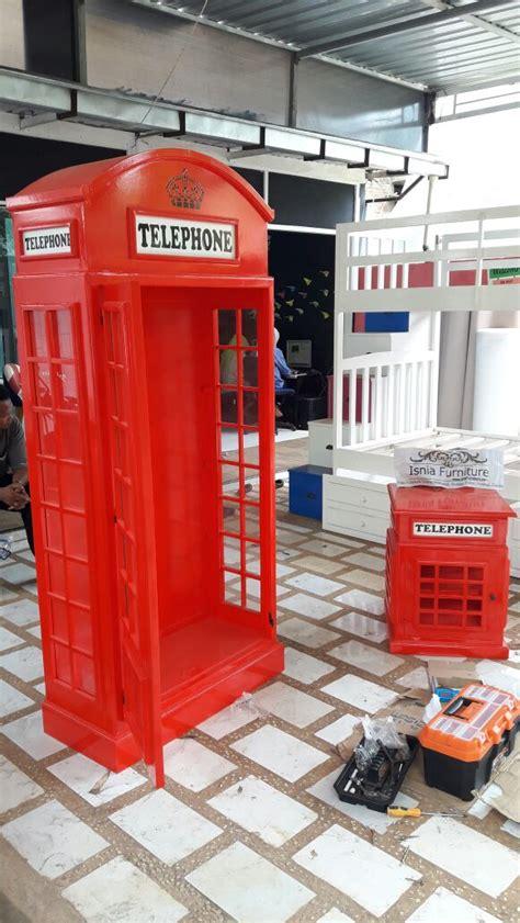 Pajangan Box Telephone 800118166 Murah lemari telephone inggris murah lemari hias vintage klasik
