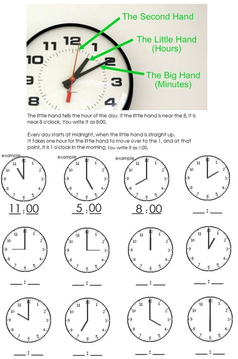 clock worksheets on the hour clock worksheet telling time to the hour kindergarten
