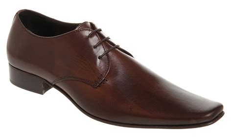 mens office exit chisel gibson brown leather formal shoes