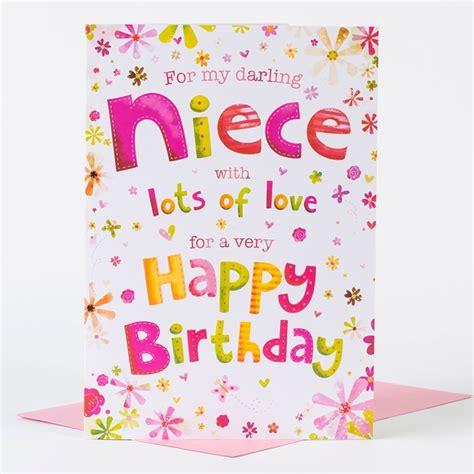 Birthday Cards For A Niece Birthday Card Darling Niece Only 99p