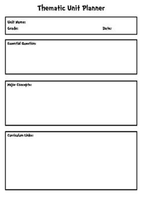 thematic lesson plan template thematic unit planning template