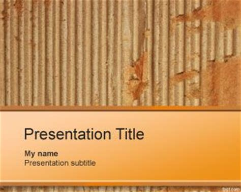 themes for paper presentation cardboard powerpoint template