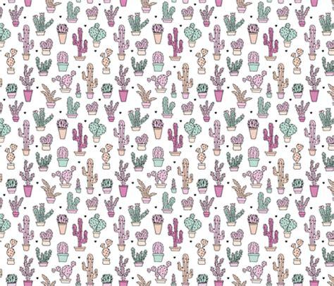 pastel cactus pattern cactus garden botanical succulent summer pastel pop