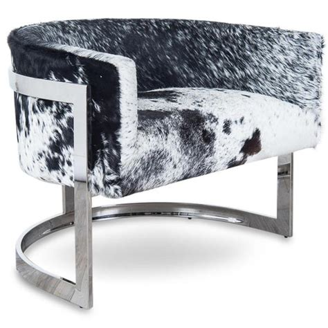 Modern Cowhide Chair - ibiza arm chair modern cowhide furniture side chair