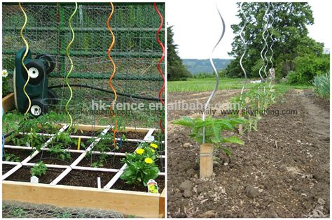 Vegetable Garden Stakes Green Pvc Coated Metal Galvanized Twizzle Garden Plant