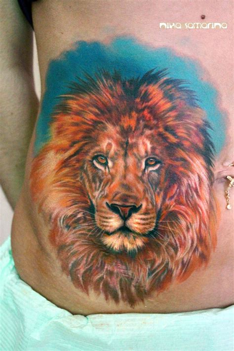 colorful lion tattoo colourful by nikasamarina tattooimages biz