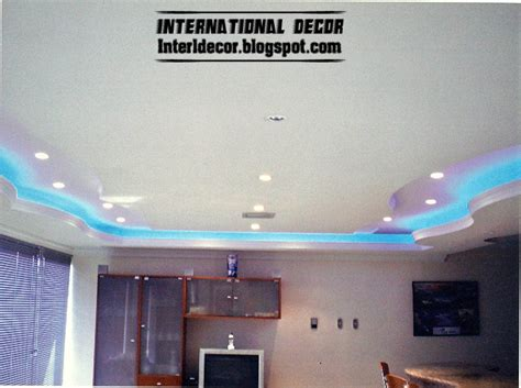 Ceiling Board Designs Gypsum Ceilings Designs With Blue Ceiling Lighting Ideas