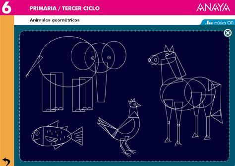 figuras geometricas de animales animales y formas geom 233 tricas anaya didactalia