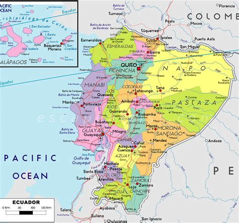 map of equador map of ecuador south america maps map pictures