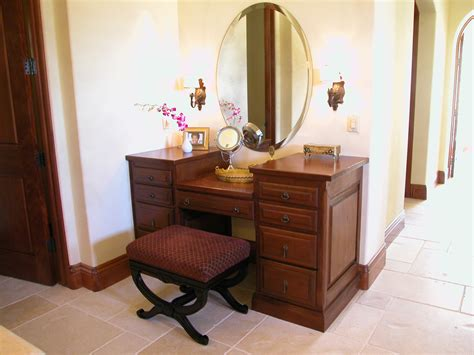 Makeup Vanity Furniture Wooden Makeup Vanity Furniture Set With Wall Sconce Lighting Decofurnish