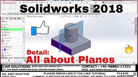 solidworks tutorial in hindi plane in solidworks 2018 hindi tutorial plane in
