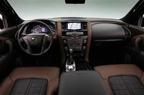 2017 nissan armada platinum interior 2018 nissan armada platinum reserve interior 01 motor trend