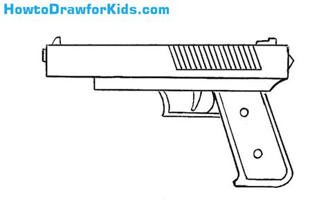 how to draw doodle guns how to draw a gun for howtodrawforkids