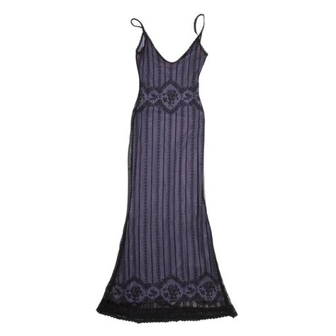 christian dress in black lace and purple lining size