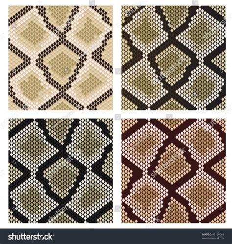 design pattern versioning vector version set of snake skin pattern for design or